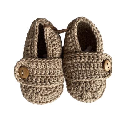 Mocasines Tejidos Crochet Cafe