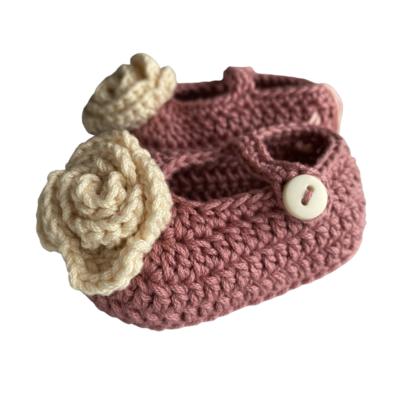 Zapatos Tejidos Crochet Camelia Cereza