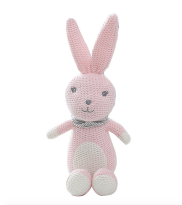 Conejo Rosa de Crochet