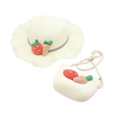 Sombrero Mary con Bolsa Crema