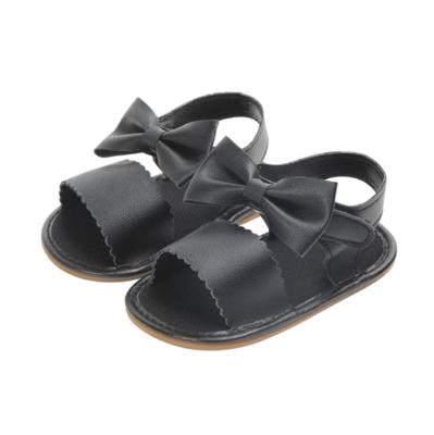 Sandalias con Moño Negras