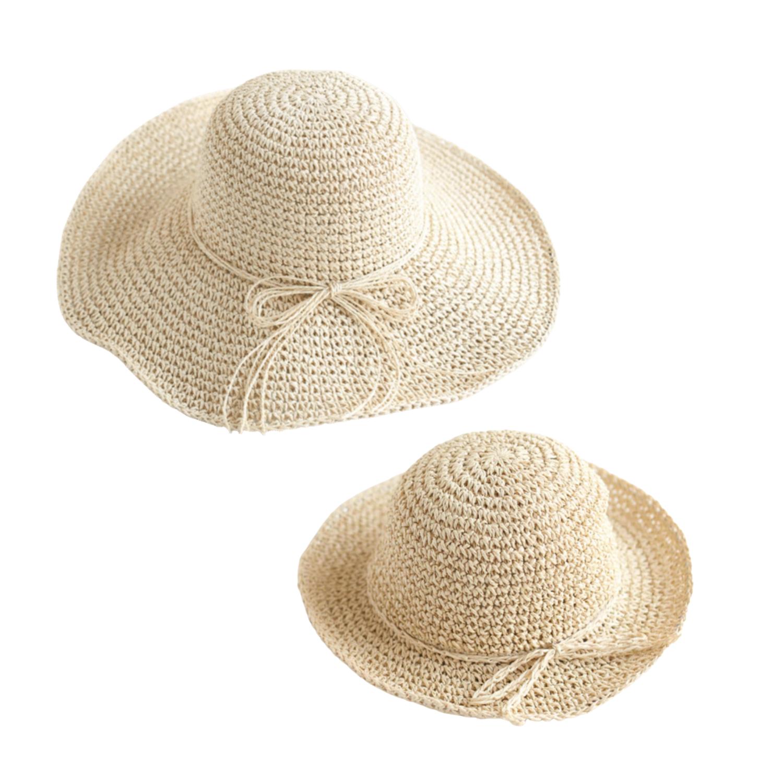 Set de Sombreros Mama e Hija Crudo