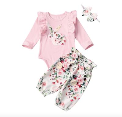 Conjunto Flower Bunny Rosa