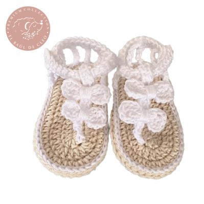 Sandalia Crochet Blancas