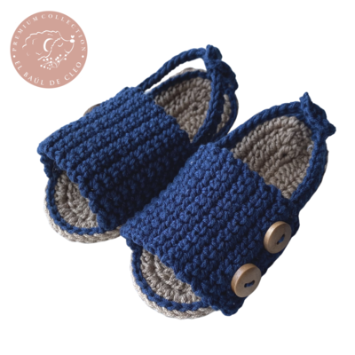 Huaraches Crochet Azul Marino