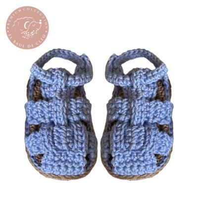 Huaraches Crochet Azul Claro