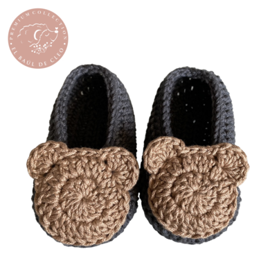 Mocasines Crochet Osito