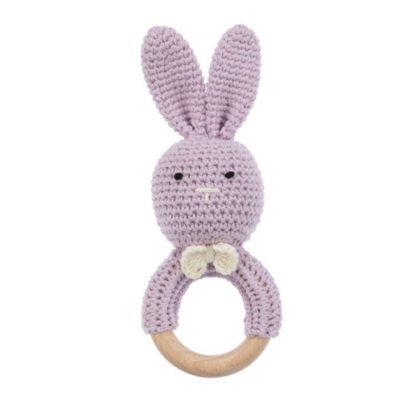 Sonaja Conejito Crochet Lila