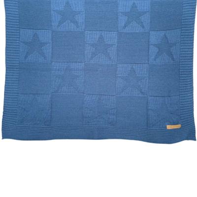 Frazada Estrellas Azul Acero