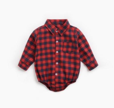Camisa Pañalero Cuadros Rojo
