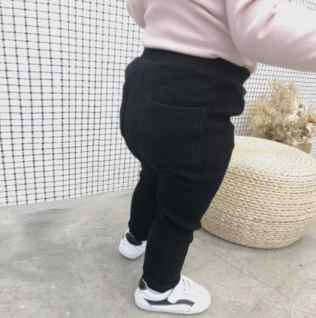 Leggings Rayas Negro