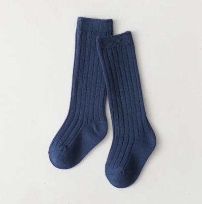 Calcetas a Rayas Azul Acero