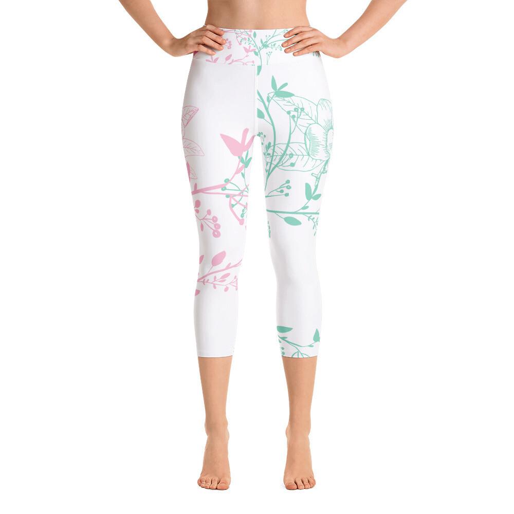 BRAG Floral Women's Yoga Capri Leggings