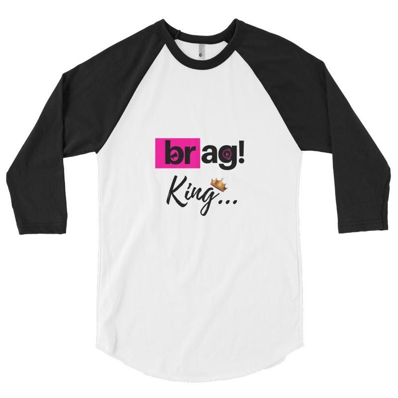 BRAG King 3/4 sleeve raglan shirt