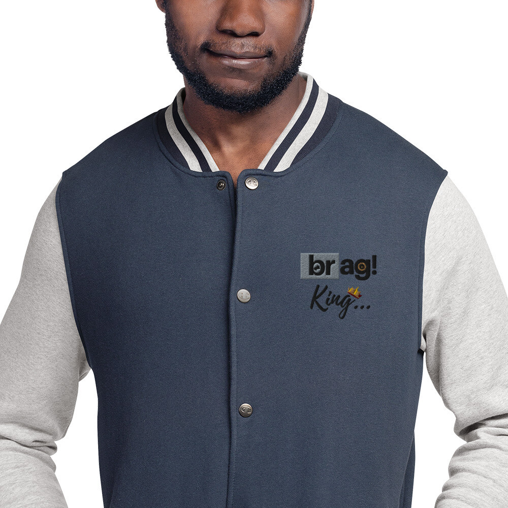 BRAG King Embroidered Old Navy Bomber Jacket