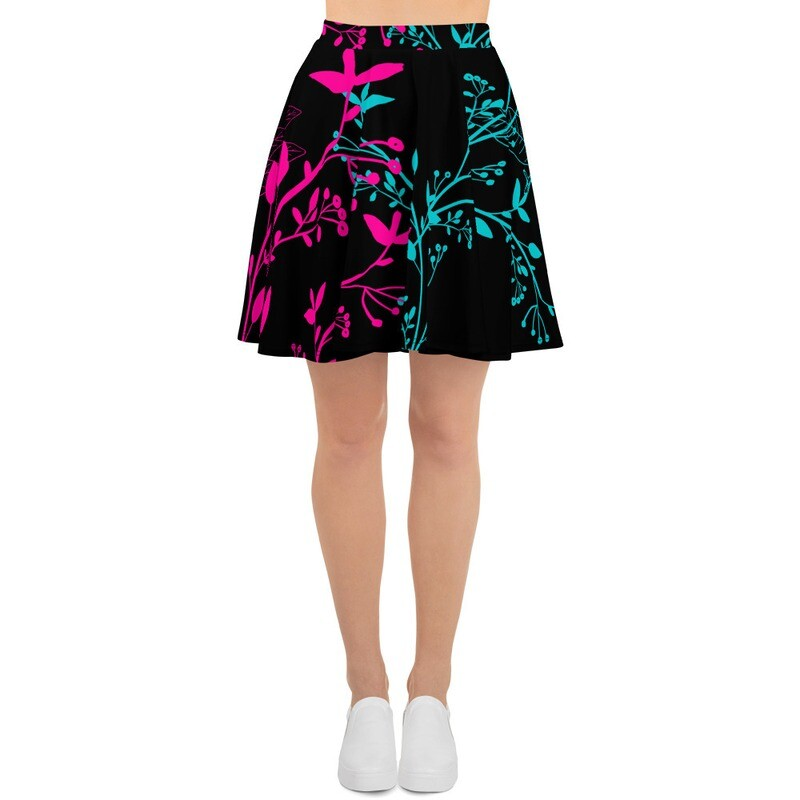 BRAG Floral Women's Flared Skirt