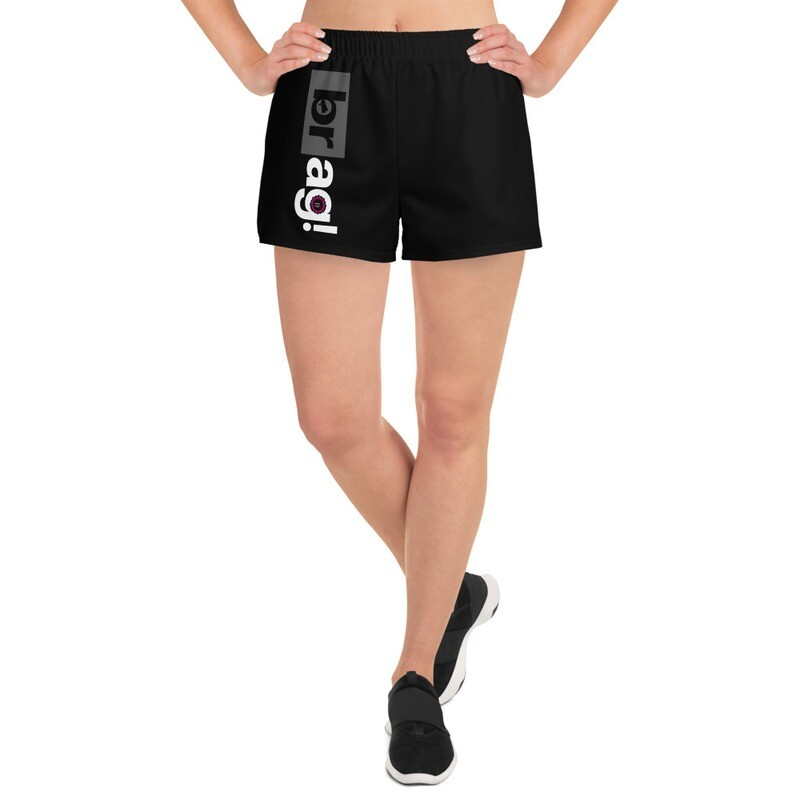 BRAG Women's Black Athletic Short Shorts