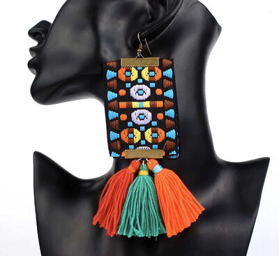 Color Fusion Fabric Earrings