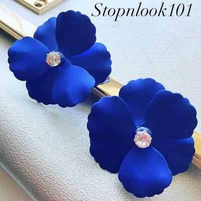 Blue Petals Earrings