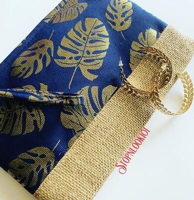 Gold On Blue Bag
