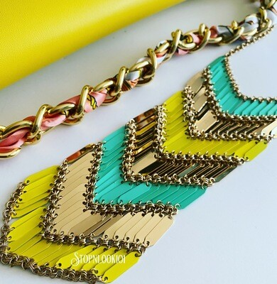 Layered Yellow Necklace Set