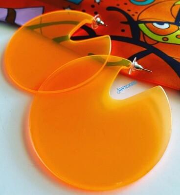 Large Orange Earrings