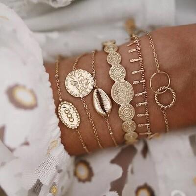 6 Bracelet Combo Charm Bracelets