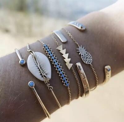 Arm Candy Bracelet Set - Shell