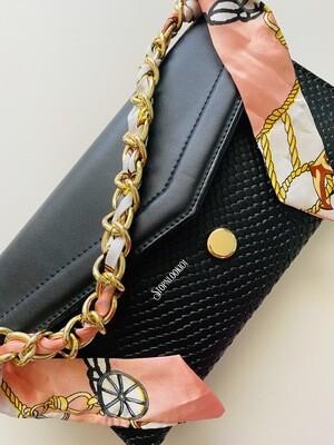 Ribboned Black Bag