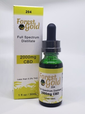 Forest Gold 204 CBD Full Spectrum Tincture
