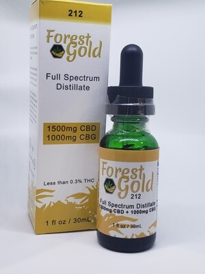Forest Gold 212 CBD Full Spectrum Tincture