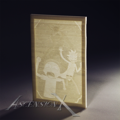 Lithophane inspiré de Rick and Morty (Fan Art)​