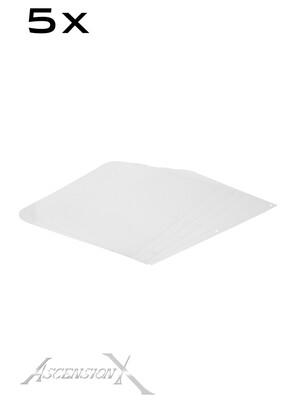 [Lot de 5 unités] Visières minces de remplacement (.1mm)