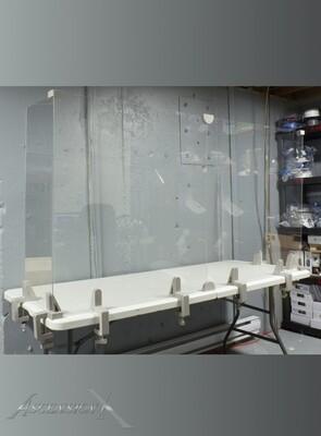 Écran de protection en acrylique pour table/comptoir