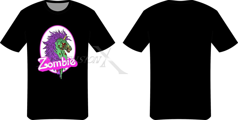 T-shirt Zombie Unicorn
