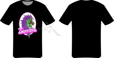 T-shirt Zombie Unicorn