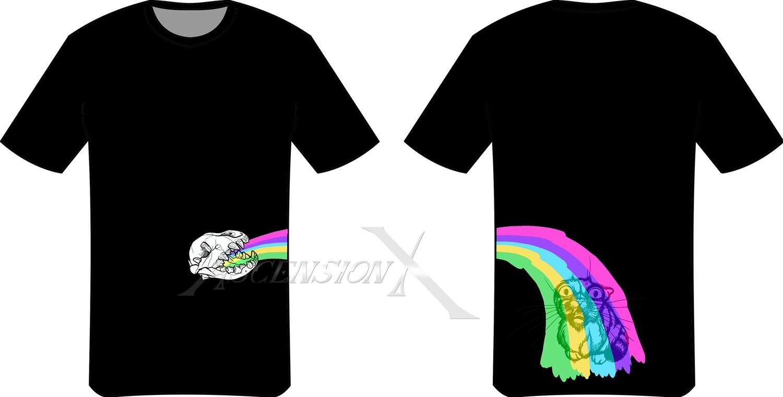 T-shirt Rainbow vomit