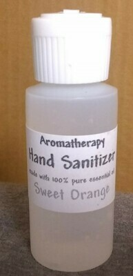 Sweet Orange - Aromatherapy Hand Sanitizer - 62% Alcohol - Made with Pure Essential Oils - 1 ounce