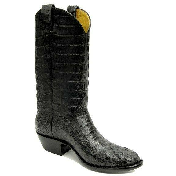 Top & Bottom Caiman Crocodile Cowboy Boots