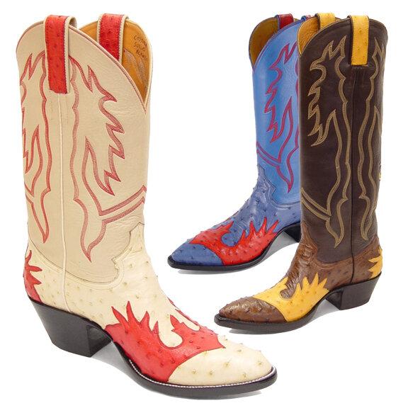 Tomahawk Ostrich Cowboy Boots
