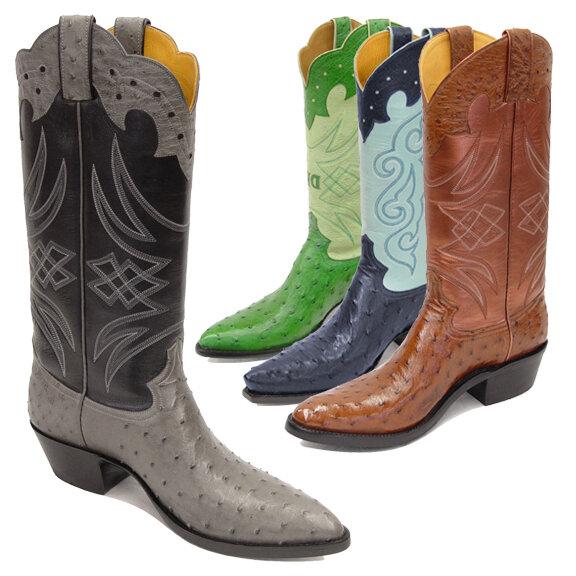 Rustler Ostrich Cowboy Boots