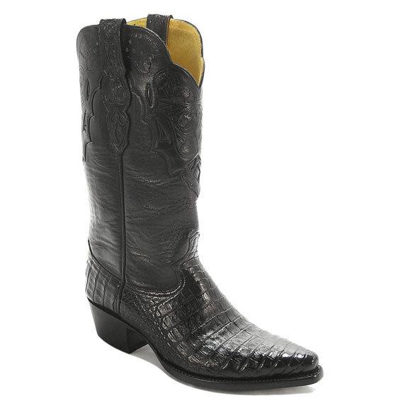 Barcelona Smooth Caiman Crocodile Cowboy Boots