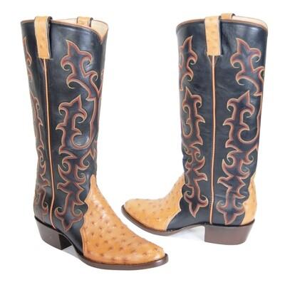 Full Quill Ostrich Triad Cowboy Boots