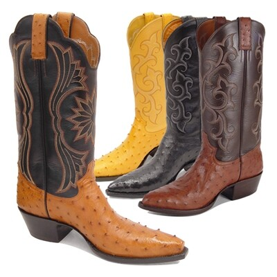 Full Quill Ostrich Cowboy Boots