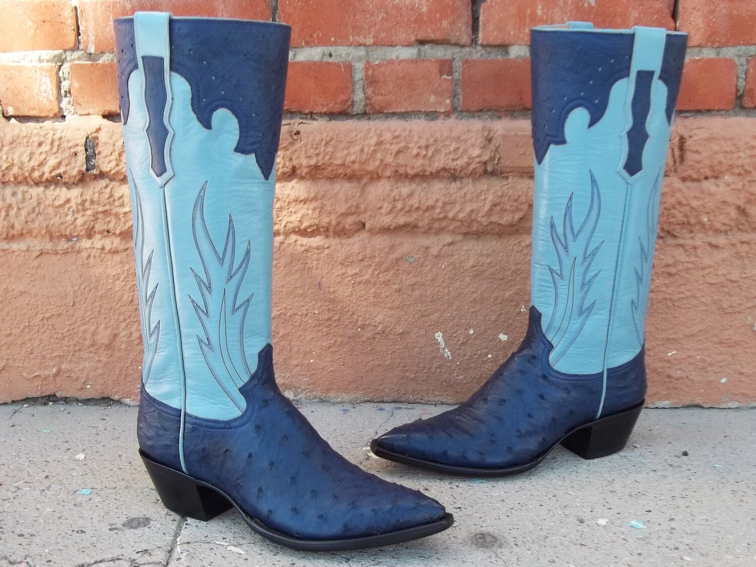 Blu Royale Ostrich Boots