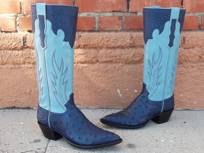 Blu Royale Ostrich Boots