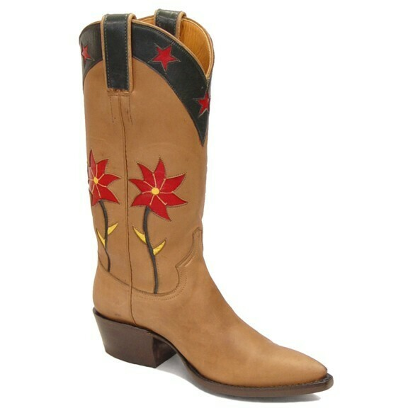Spiny Rose Cowboy Boots
