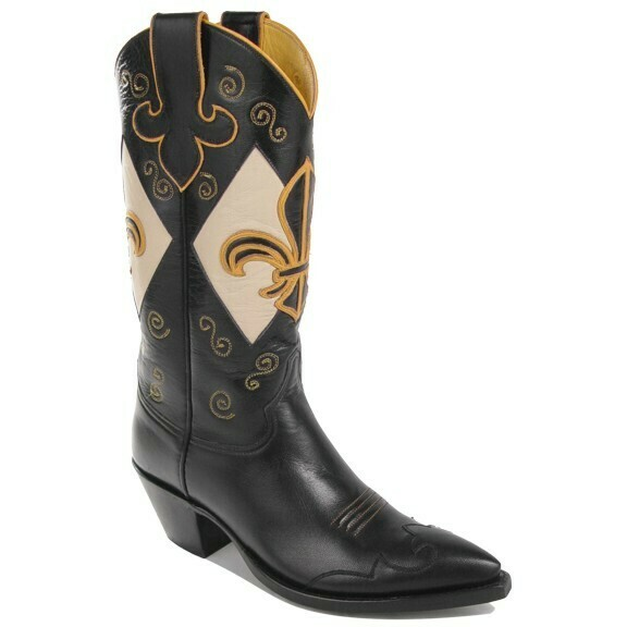 Fleur de Lis Cowboy Boots