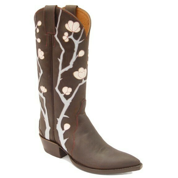 Cherry Blossom Cowboy Boots