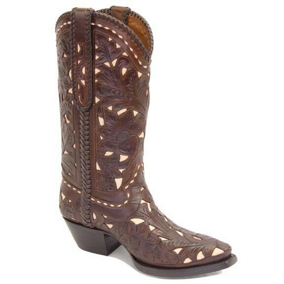 Maria Hand-Tooled Cowboy Boots